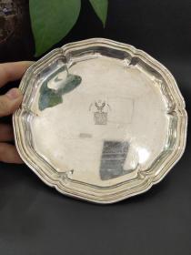 西洋 欧洲古董 德国 餐具 银器 银盘3个合售 830银 镀金 制造厂商Bremen Koch & Bergfeld 16cm 每个140克左右 3个共421克(可以单卖)