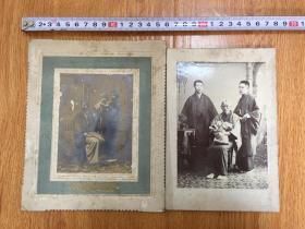 【清末7】1904年日本家庭男人合影兩張
