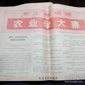 内蒙古日报1971年11月18日(农业学大寨)汉文版.和(蒙文版)各4版