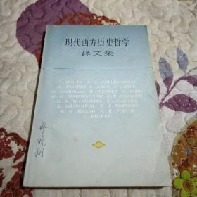 现代西方历史哲学译文集
