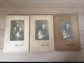 【民國6】1919年日本日本家庭合影三張