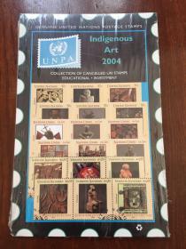 联合国邮票 Indigenous Art 2004 UNPA 邮票一套