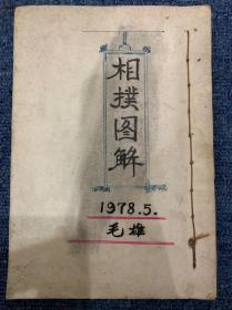 【铁牍精舍】【武术文献】 1978年手绘本《相扑图解》一册,45个筒子页,19.5x13.5cm