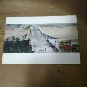 明信片 单张  1957年  天险成大道 武汉市邮局