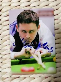 【超珍罕 著名台球运动员 麦克 马努斯   签名  6寸照片】==== 保真 来自知名藏友