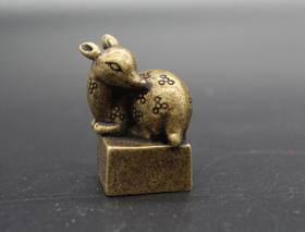 GZ1110古玩杂项收藏复古小印章摆件闲章小鹿小摆件印章闲章