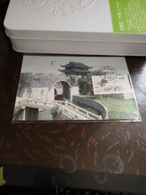 极限片苏州盘门,新加坡景色二枚一套