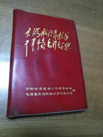 大海航行靠舵手,干革命靠毛泽东思想日记本里面有图片,文革日记字迹。