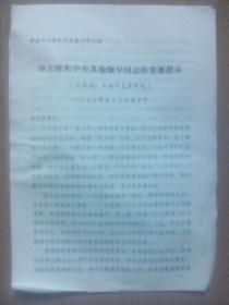 华主席中央其他领导同志的重要指示--开封市科学技术大会文件之四