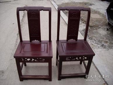 民国苏作榉木文旦椅两张一对