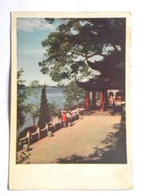 《西湖之春》明信片-孤山放鹤亭(50年代)
