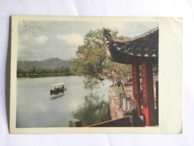 《西湖之春》明信片-西泠桥堍望苏堤(50年代)