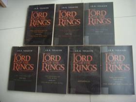 The Lord of the Rings  英文原版大32开 正品 全7本1套,品好无划,全部透明书衣保护