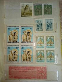 集邮册--见描述(有邮票和照片如图)