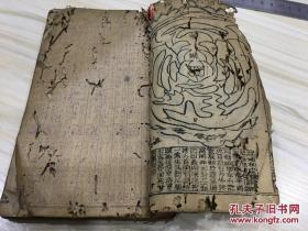 旧通书 风水书 清代木刻本