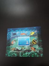 海底世界.珊瑚礁观赏鱼(邮票 三张合售 见图)