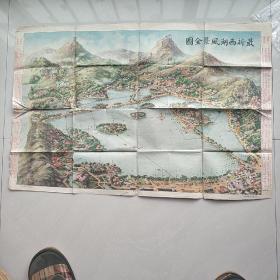 最新西湖风景全图