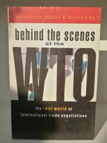 Behind the Scenes at the WTO :The Real World of International Trade Negotiations (经济学)英文原版书