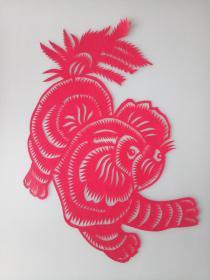 可爱的小狗 传统手工剪纸 民间艺术 未托裱 (年代:2000年)