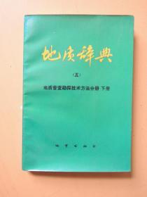 地质辞典(五):地质普查勘探技术方法分册 下册