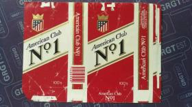 American Ciub No.1烟标 红色