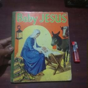 原版英文旧书:小耶稣(民国时期12开精装彩绘童书)(baby jesus)