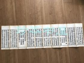 明版佛经  写刻本 白棉厚纸 刻印精美 字大如钱 10折
