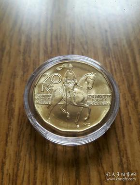 捷克 骑士波西米亚庇护神 20克朗(2016年) 十三边形 美币