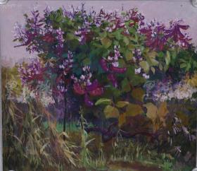 低价出售美院教授的1979年精品水粉画《深秋的菜园一角》,保真了。。。