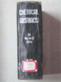 CHEMICAL ABSTRACTS 20 No.16-22[1926]