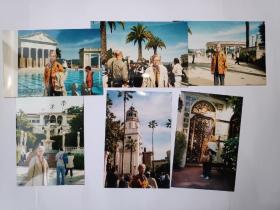 """2004年旅游美国加州""""黑兹古堡""""""""单麦村""""拍摄的照片8张(15乘10厘米)"""