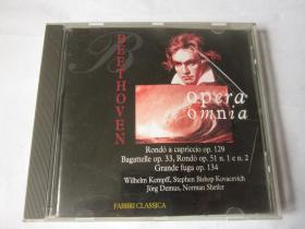 CD  光盘  唱片    BEETHOVEN  OPERA  OMNIA     贝多芬独奏钢琴作品集