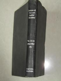 RevieWs of Pure and AppIied ChemistrY[v01.13-14.1963-1964]