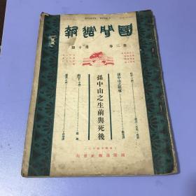 1925年三月出版的《国闻周报》,孙中山逝世特刊!