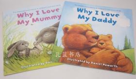 英文版我爱爸爸爱妈妈温情绘本Why I Love My Mummy +daddy 两册30元