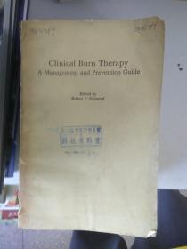 现货~ Clinical Burn Therapy A Management and Prevention Guide