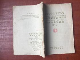 普通话异读词审音表——本国地名审音表(初稿)