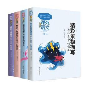课外语文应用系列全套4册 精彩心理描写/论文/景物描写人物描写在作文中的借鉴 课外语文借鉴系列中考作文写作技巧 作文素材初中版