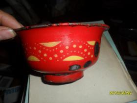 工字牌老搪瓷花碗