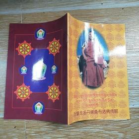 历辈龙多丹增桑布活佛传略【中藏文】