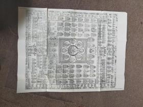 日本子岛寺藏本-胎藏界大曼茶罗图【一张】有三处损坏