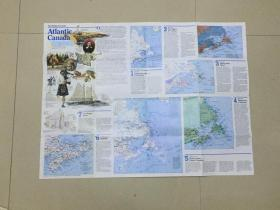 现货特价地图  national geographic 美国国家地理地图 1993年10月 Atlantic Canada 加拿大大西洋沿岸 A