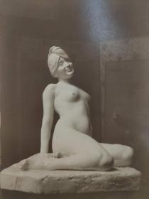 老 照片 德国 二十世纪初 美女雕像 21.5x29 17x22cm