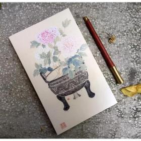 创意笔记本:宿妆隐笑