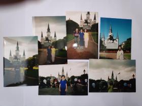 """2003年旅游美国新奥尔良""""杰克逊广场""""拍摄的照片13张(15乘10厘米)"""