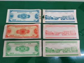 股票:1989年南昌玖玖电子总厂股票(拾元 贰拾元 伍拾元  每种5张)见图