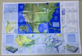 现货特价national geographic 美国国家地理地图 1993年11月 Precious resource water 宝贵的水资源