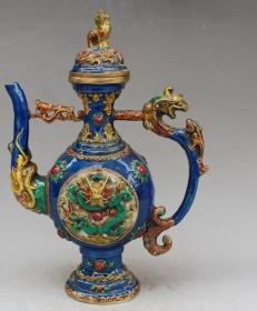 景泰蓝茶壶