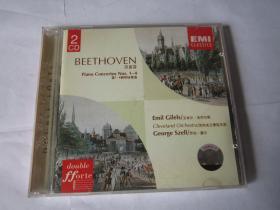 CD 光盘  唱片   BEETHOVEN   贝多芬   钢琴协奏曲   【2张CD】