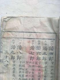 七郎裔清代仪陇潘氏族谱